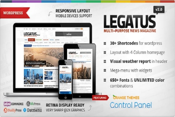 Legatus Responsive News Magazine Theme