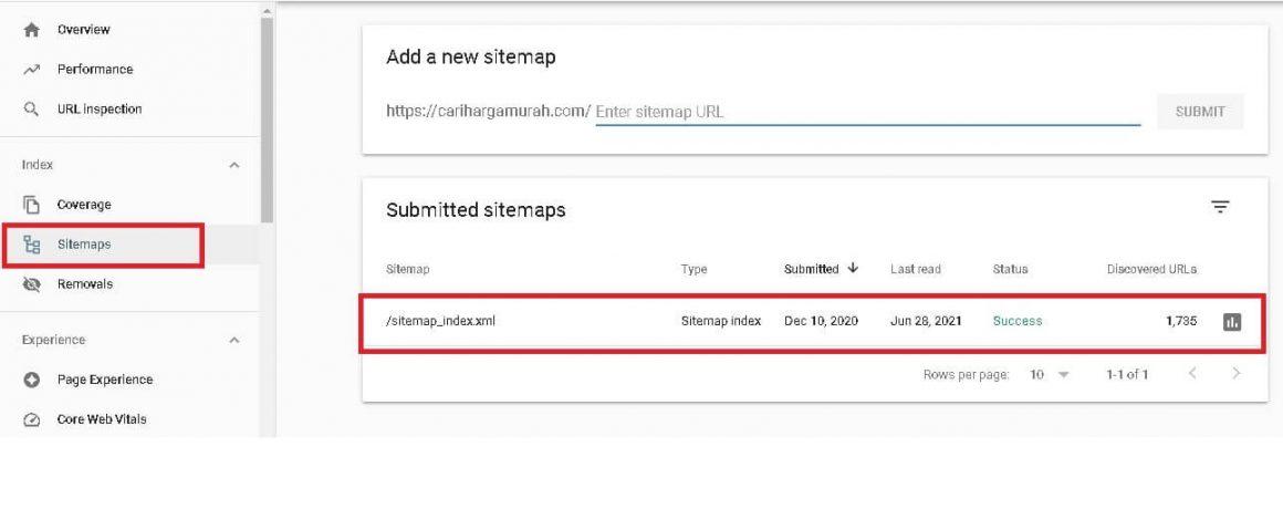 Submit Sitemap Dalam belajar SEO